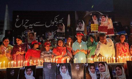 Malala Yousufzai vigil Lahore