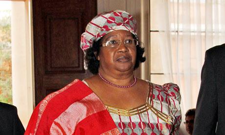 President of Malawi, Joyce Banda during a visit to London.