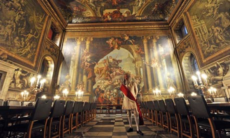 The Painted Hall in Greenwich is to be restored to its full glory.