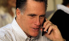 Mitt Romney on the phone during the presidential primaries.