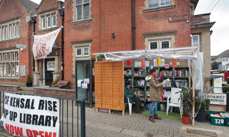 A pop-up library in Kensal Rise, Brent