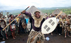 Jacob Zuma in a Zulu ritual to help him keep his leadership of the African National Congress.