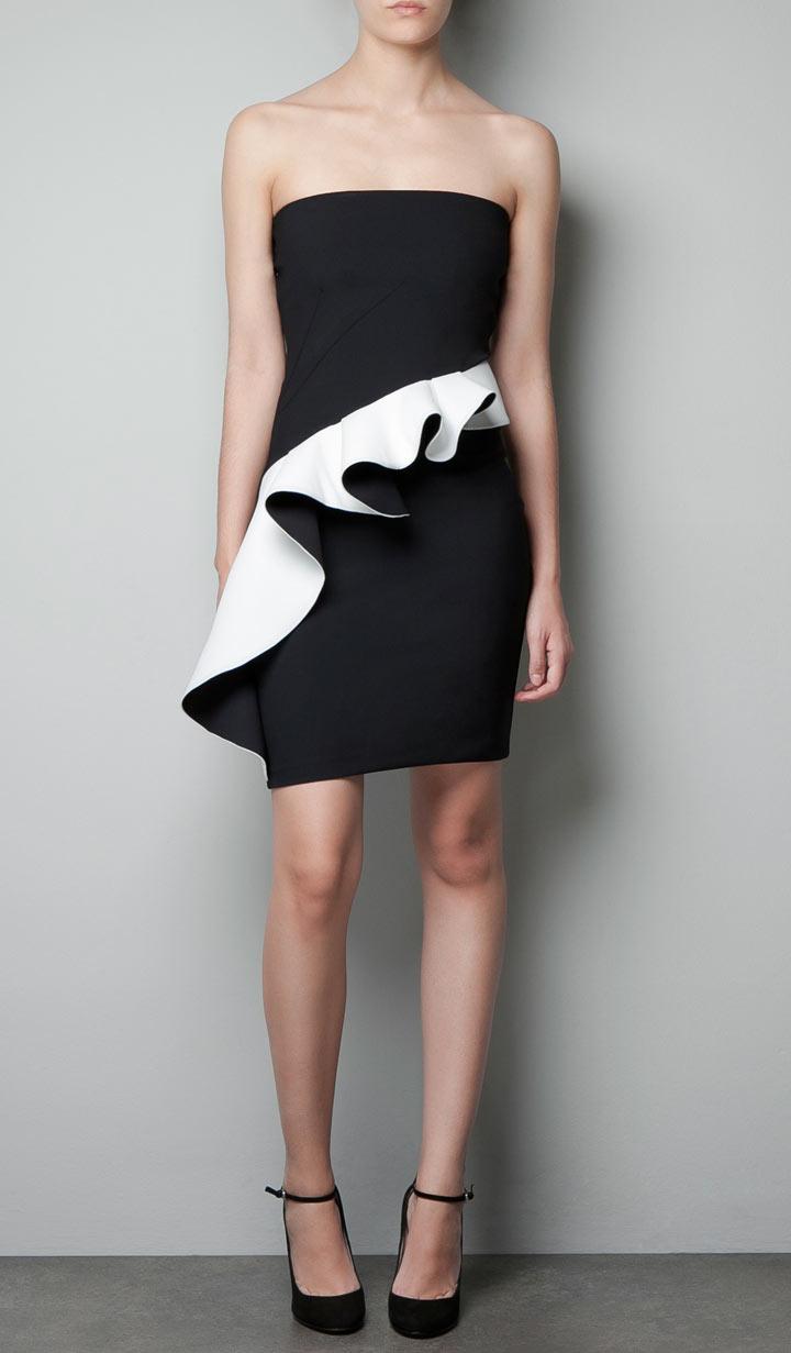 fashion buy of the day zara ruffle dress fashion the. Black Bedroom Furniture Sets. Home Design Ideas