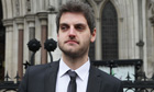Accountant Paul Chambers leaves the High Court in London