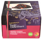 Sainsbury's Taste The Difference hidden cherry christmas pudding