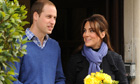 The Duke and Duchess of Cambridge leaving the King Edward VII hospital, earlier this month.