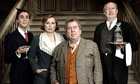 Blandings will star, from left, Jack Farthing, Jennifer Saunders, Timothy Spall and Mark Williams.