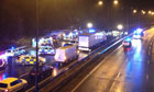 Scene of M1 crash
