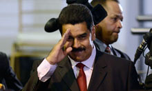 Venezuela's vice-president, Nicolas Maduro