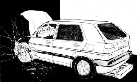 Slow Motion Car Crash