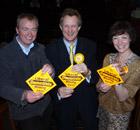 Tim Farron, Jo Stephenson and Hilary Stephenson