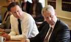 Prime minister David Cameron (left) and health secretary Andrew Lansley