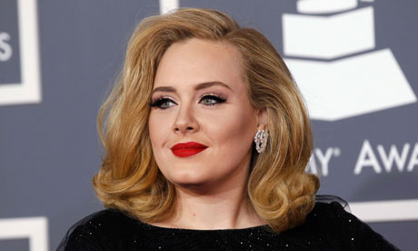 British singer Adele at the 54th annual Grammys