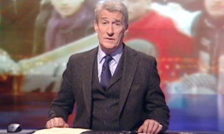 Jeremy Paxman wearing tweed suit on Newsnight