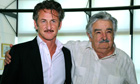 Sean Penn with Uruguay president Jose Mujica