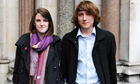 Katy Moore and Callum Hurley outside the high court in November last year.