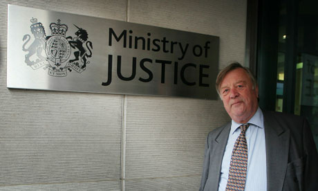 Kenneth Clarke outside the Ministry for Justice