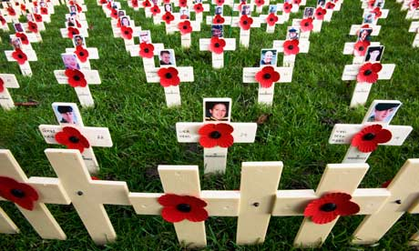Edinburgh Field of Remembrance in 2011 included a special plot for those who died in Afghanistan