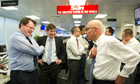 Rupert Murdoch chats to Sun staff