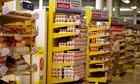 tesco value product on shelves