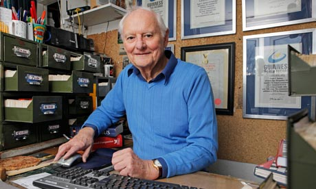 Rufus, aka Roger Squires, the Guardian cryotic crossword compiler