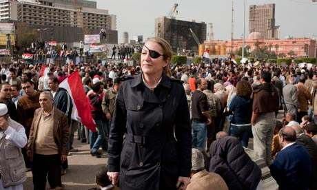 Marie Colvin in Tahrir Square