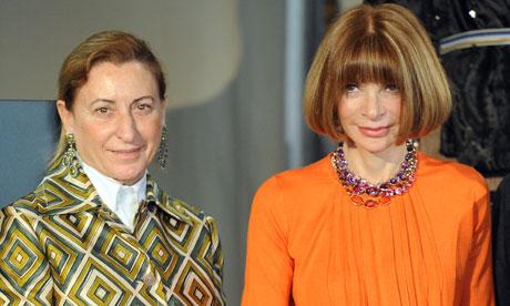 Miuccia Prada and Anna Wintour