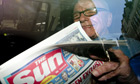 Rupert Murdoch with Sun on Sunday