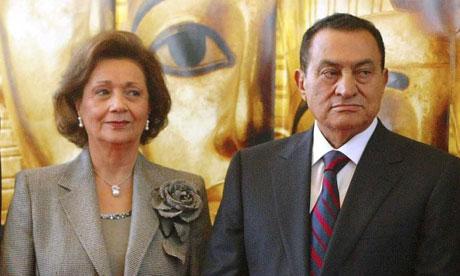 Suzanne and Hosni Mubarak, 2004