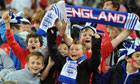 Enthusiastic young England fans