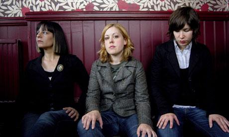 Janet Weiss, Corin Tucker, Carrie Brownstein of Sleater-Kinney