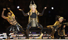 Madonna at the NFL Super Bowl XLVI half-time show