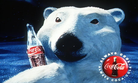 Coca-Cola advert featuring polar bear