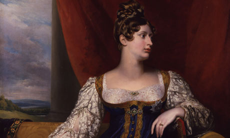 Princess Charlotte – detail from the portrait painted by George Dawe in 1817, the year of her death.