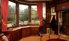The study at Gad's Hill Place where Charles Dickens lived and died, near Rochester, Kent.