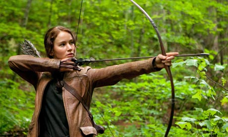 Jennifer Lawrence in The Hunger Games.