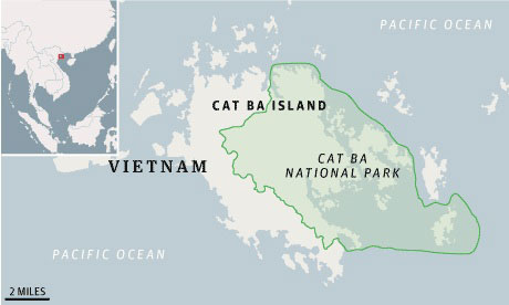 Vietnam map, Cat Ba island