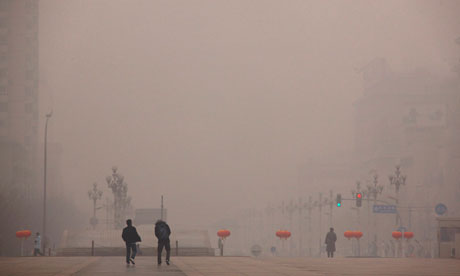 A hazy day in Beijing, China.
