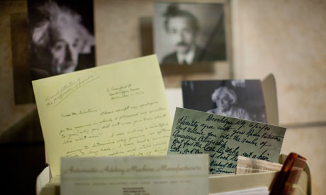 Albert Einstein's complete archives to be posted online Hebrew University releases initial 2,000 documents including unseen letters, postcards and research notes