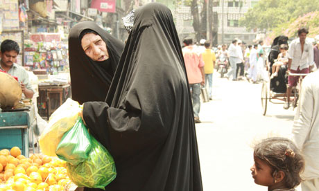 Two women shopping in Delhi