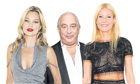Kate Moss, Philip Green and Gwyneth Paltrow