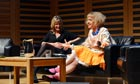 Grayson Perry with Decca Aitkenhead at the Guardian's Open Weekend.