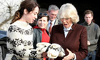 Sophie on The Killing set with the Duchess of Cornwall