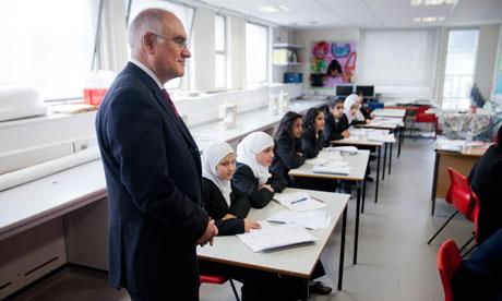 Sir Michael Wilshaw at Park View school in Birmingham, March 2012