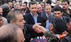 President Bashar al-Assad meets Armed Forces in Baba Amr in Homs, Syria - 27 Mar 2012