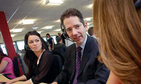 Justice minister Jonathan Djanogly visiting the Co-operative Legal Services in Bristol