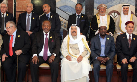Iraqi President Jalal Talabani, Djibouti's President Ismail Omar Guelleh