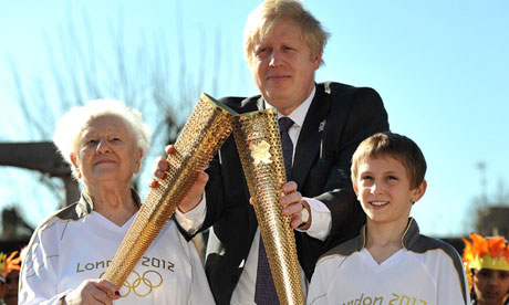 Boris Johnson meets Olympic torchbearers