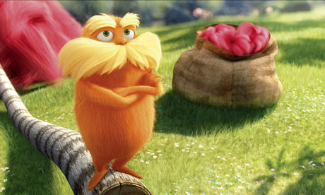 Bigger than it looks … The Lorax dominated the US box office over the weekend