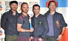 Coldplay at the Brit awards, February 2012